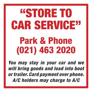 Store to Car Signs