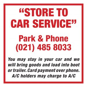 Store to Car Sign