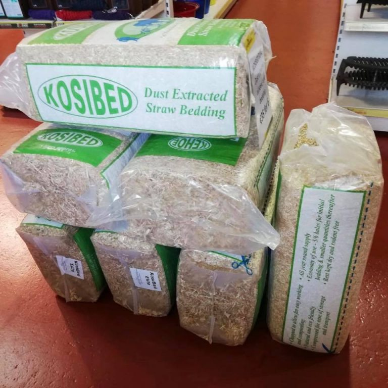 Bags of equine bedding