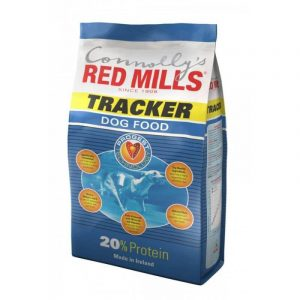 Bag of tracker dog food