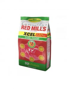 Bag of Xcel dog food