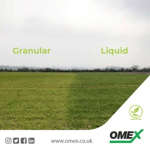 Graphic showing granular vs liquid fertiliser