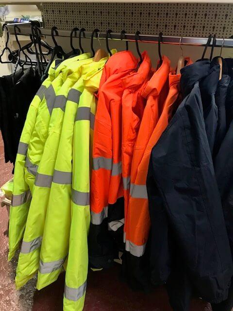 Rail of Hi Vis jackets