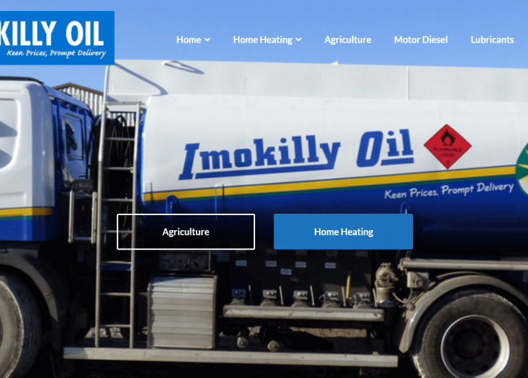 Cover of Imokilly oil website
