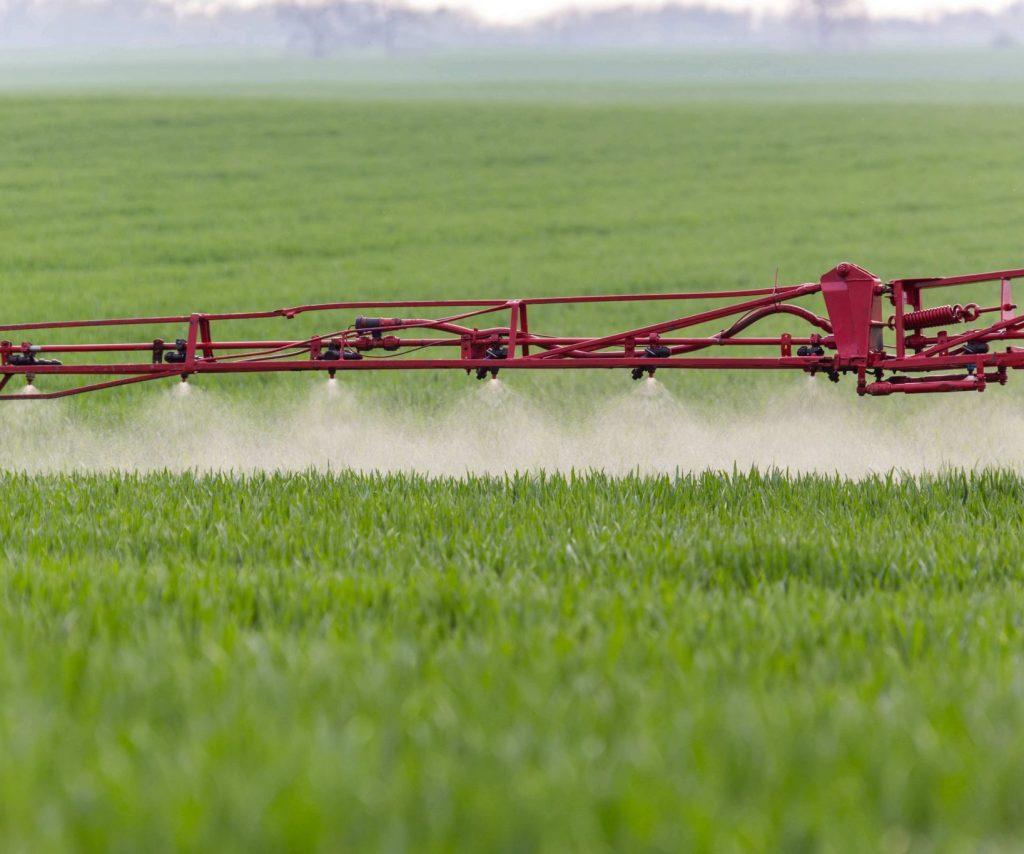 Spraying a field